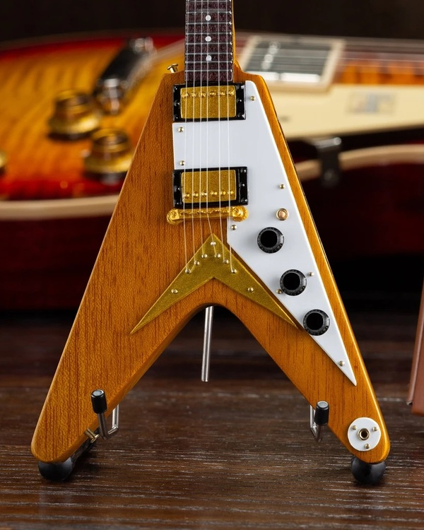 Gibson 1958 Korina Flying V Mini Guitar Model