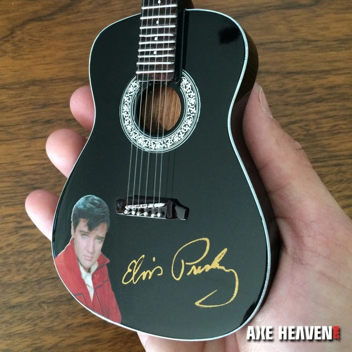 Elvis Presley Gold Signature Black Acoustic Mini Guitar