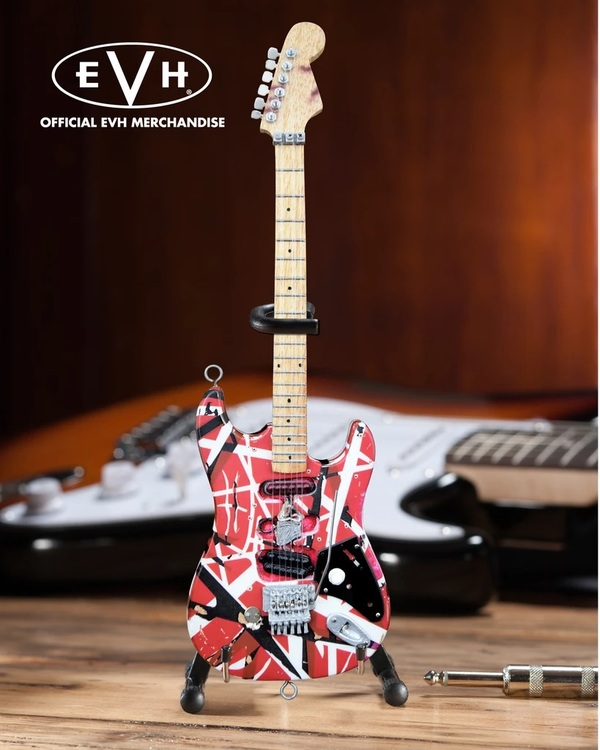 "EVH ""Frankenstein"" Eddie Van Halen Mini Guitar Replica Collectible"