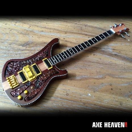 Lemmy Signature Carved Bass Mini Guitar Replica Model