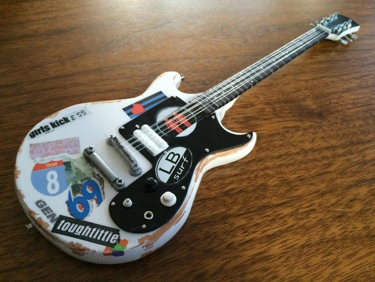 "Joan Jett & The Blackhearts ""Girls Kick Ass"" Tribute Miniature Guitar Model"