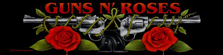 Guns N Roses 'Logo/Roses' Woven Superstrip