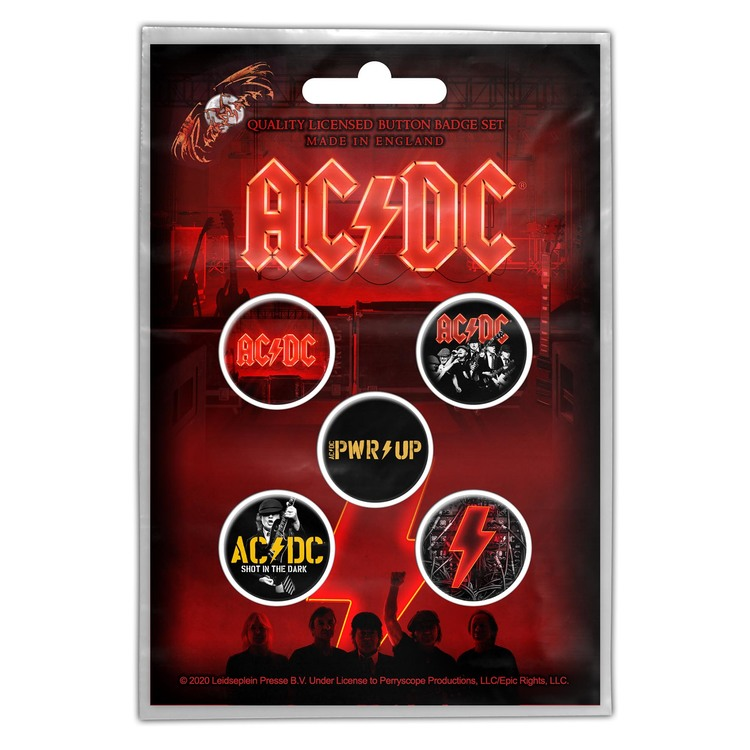 AC/DC 'PWR UP' 5-pack badge