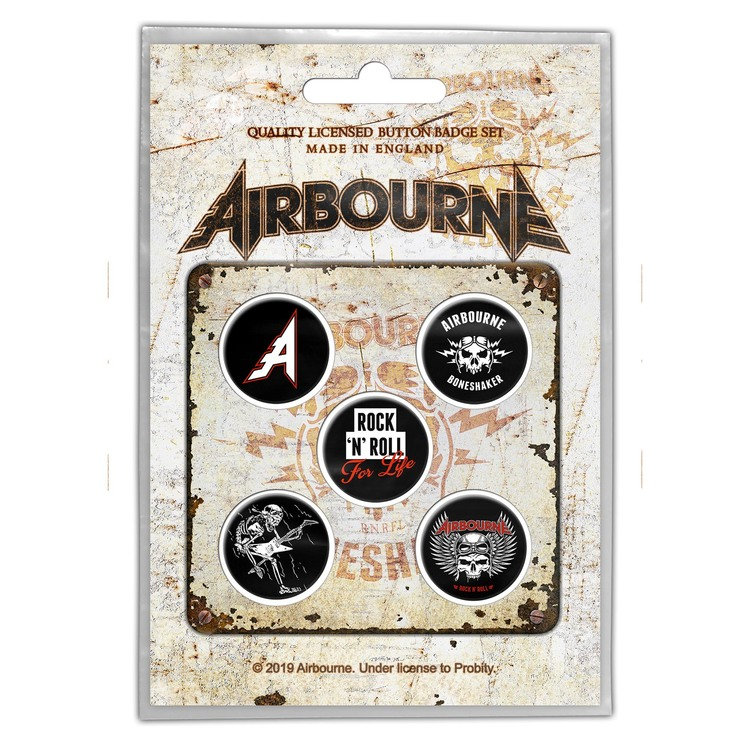 Airbourne 'Boneshaker' 5-pack badge