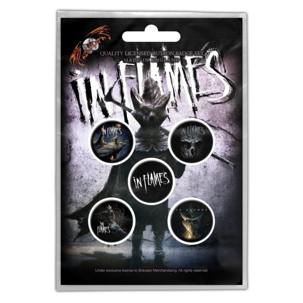 In Flames 'The Mask' Button Badge 5-Pack