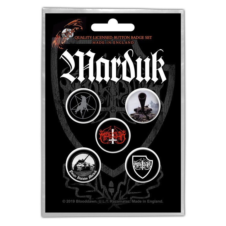 Marduk 'Panzer Division' Button Badge 5-Pack
