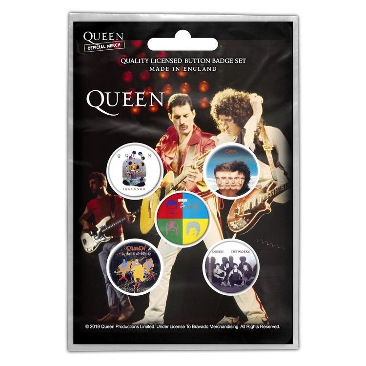 Queen 'Later Albums' Button Badge 5-Pack