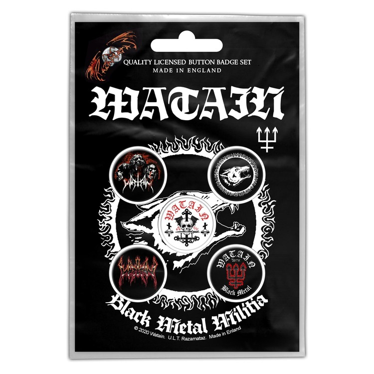 Watain 'Black Metal Militia' Button Badge 5-Pack