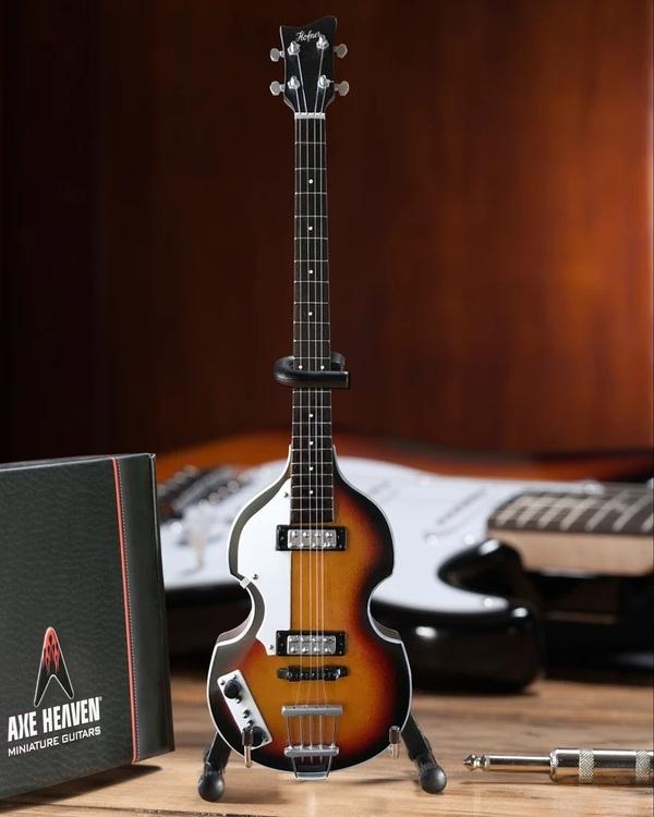 Paul McCartney Original Violin Bass Miniature Guitar Replica - Fab Four