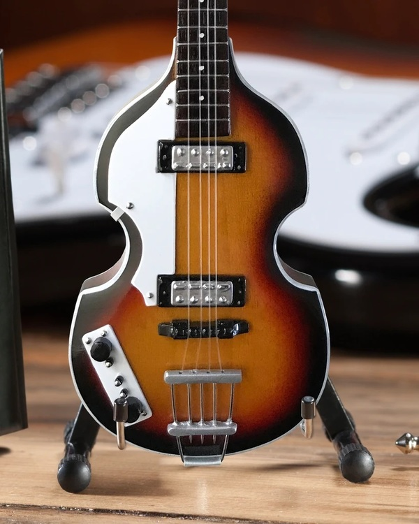 Paul McCartney Original Violin Bass Miniature Guitar Replica - Fab Four