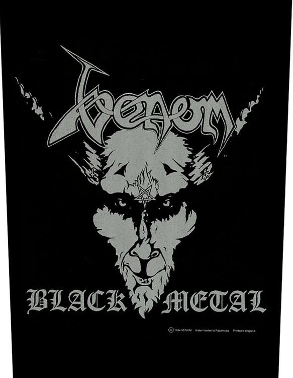Venom Back Patch Black metal