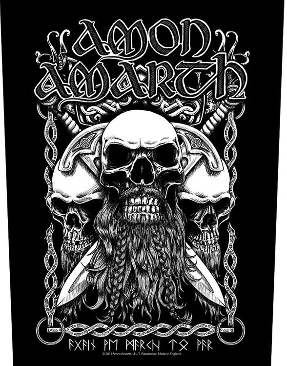 Amon Amarth 'Bearded Skulls' Backpatch