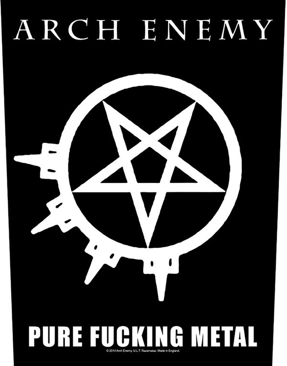Arch Enemy 'Pure Fucking Metal' Backpatch