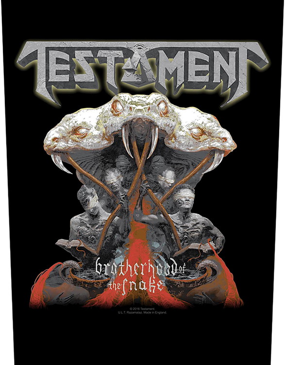 Testament 'Brotherhood Of The Snake' Backpatch
