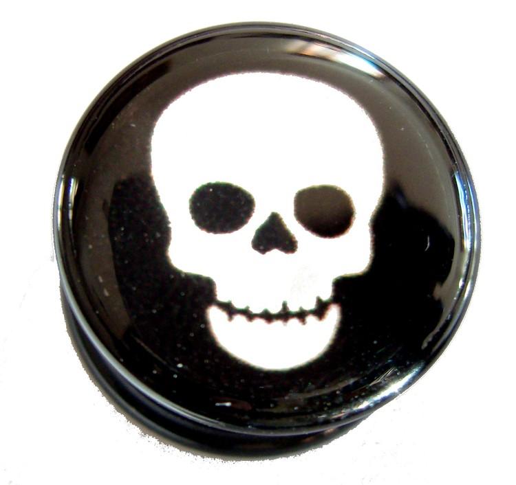 Akrylplugg Skull 6-18mm