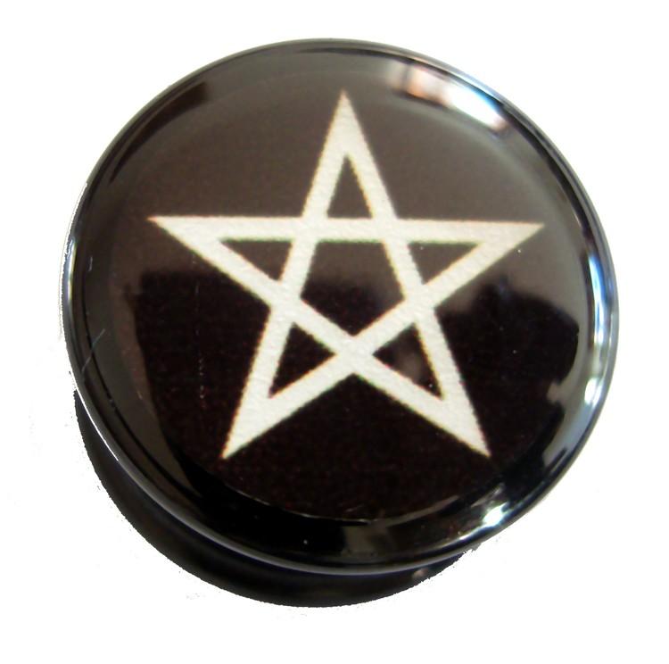 Akrylplugg Pentagram 6-20mm
