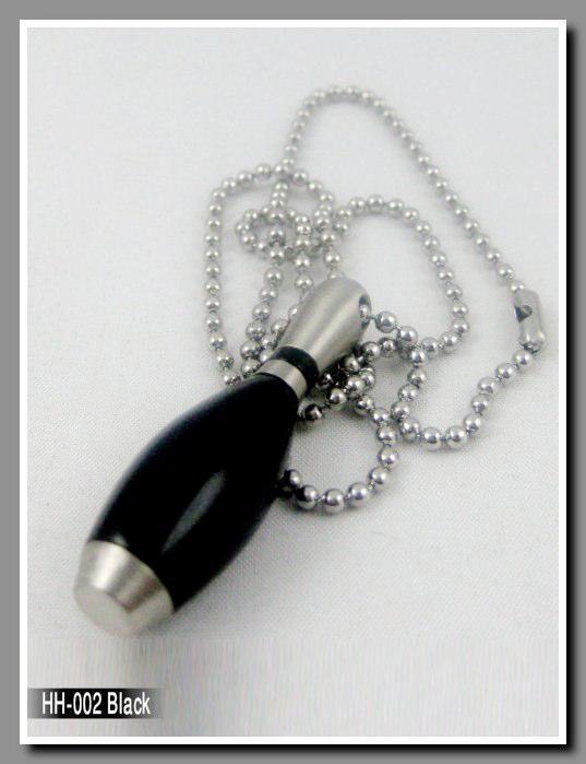 Halsband med svart kägla