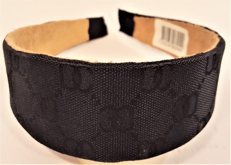Diadem i svart med mönster
