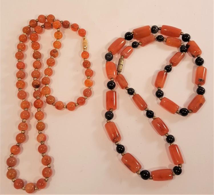 Halsband av Karneol, 2 olika att välja mellan, x1