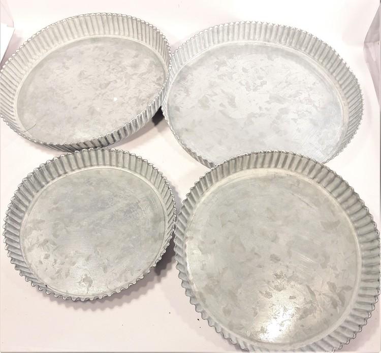 Ljusfat i metall, 4 varianter