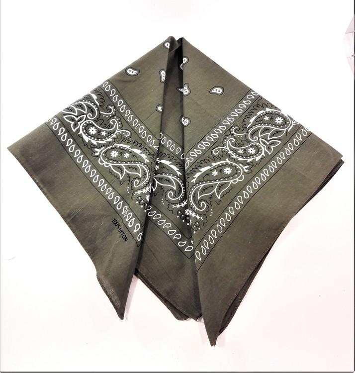 Mindre scarf med mönster, flera färger att välja mellan, 100 bomull