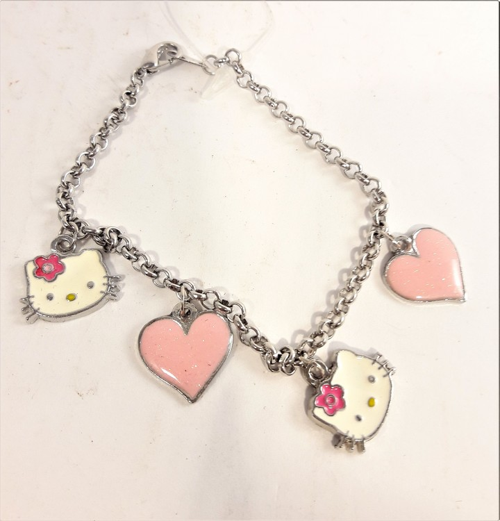 Armband med Hello Kitty-motiv, 4 berlocker