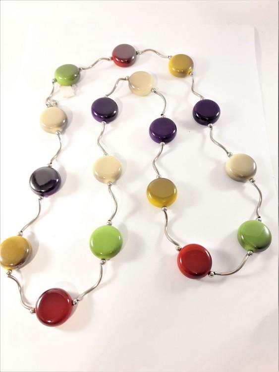Halsband med rundlar i multifärg