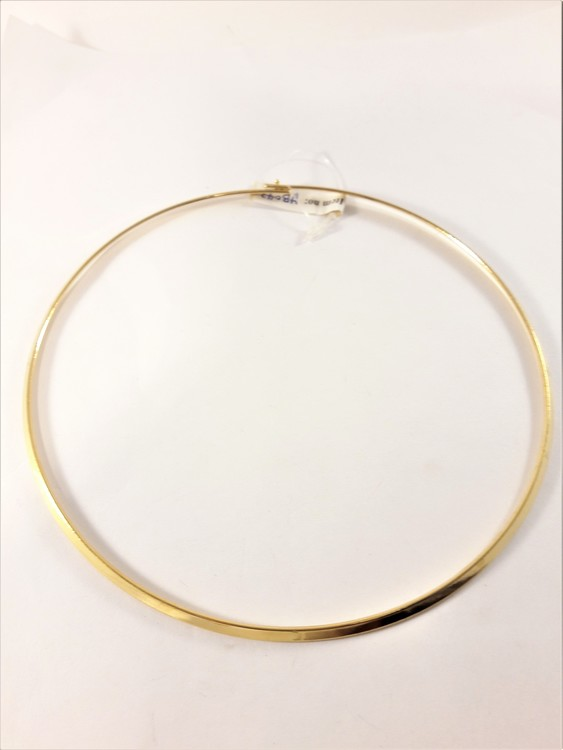 Stelt halsband i guldfärg