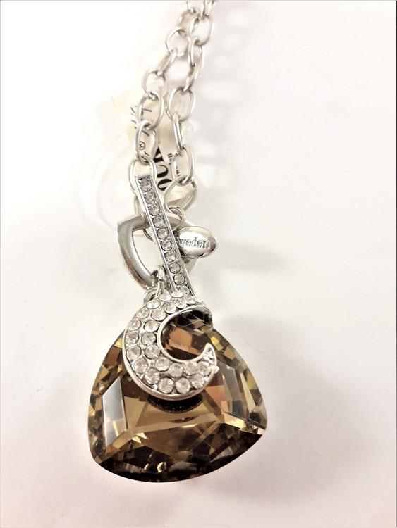 Halsband med kristall prydd med strass