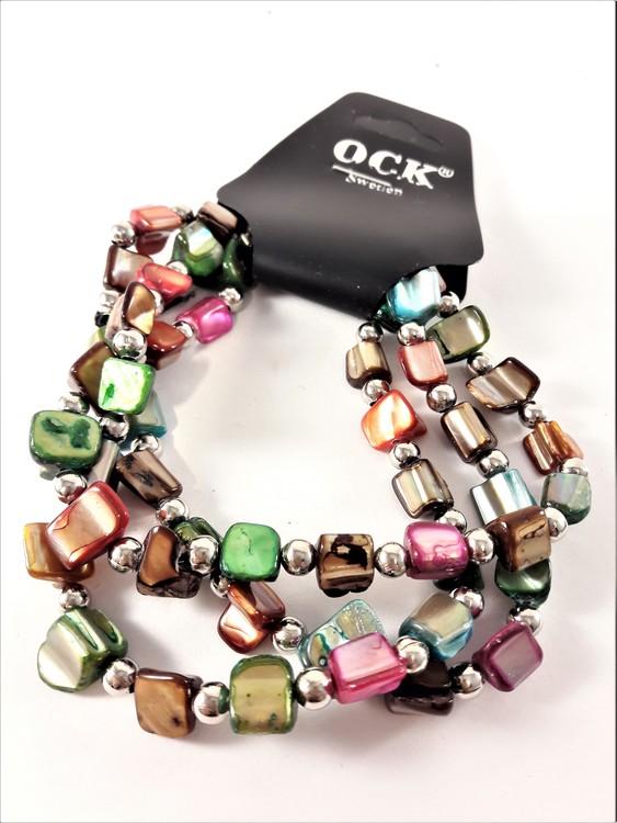 Flerradigt Armband Mixade Färger