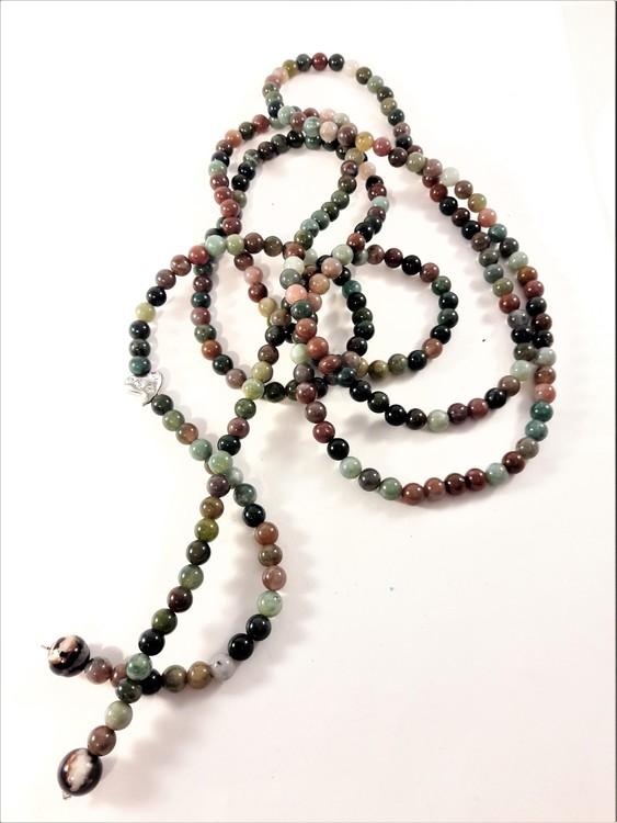 Öppet Halsband med Kulor och Litet Hjärta med Strass Multifärg