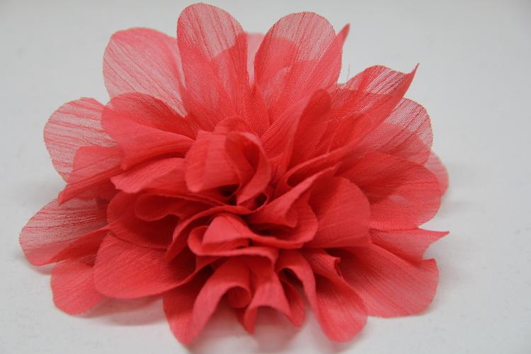 Hårsnodd, rosaröd färg, med klämma