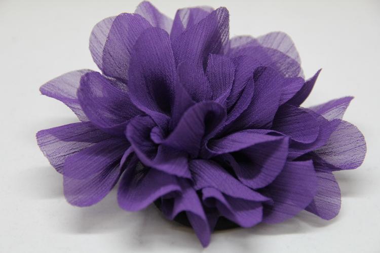 Hårsnodd, lila, med klämma