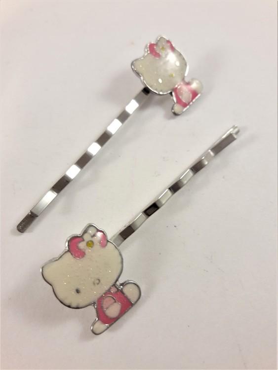 Hårklämma, sittande Hello Kitty