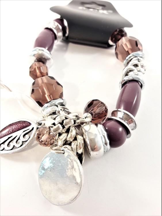Armband med fina detaljer Lila och Silverfärg