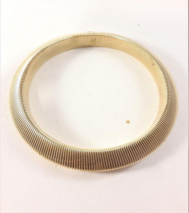 Armband i metall, slätt, guldfärgat