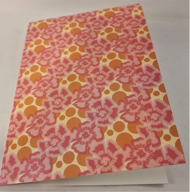 Grattiskort med blommotiv, utan text, utan kuvert