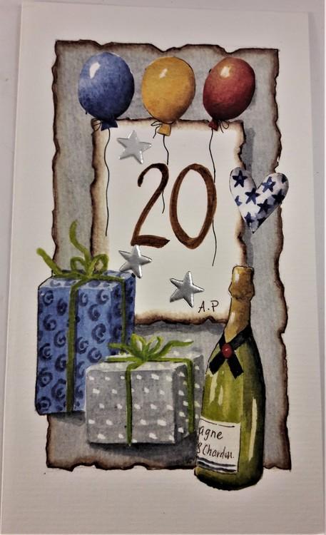 """Grattiskort """"20 år"""""""
