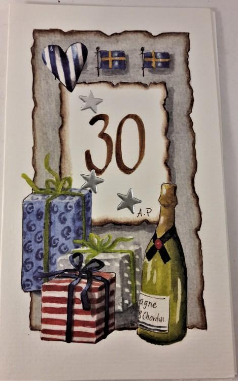 """Grattiskort """"30 år"""""""