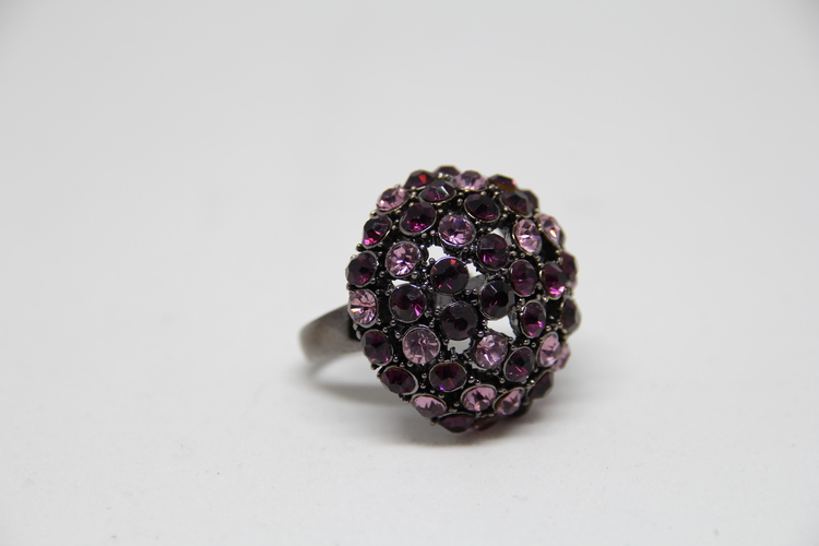 Ring rosa, glittrig