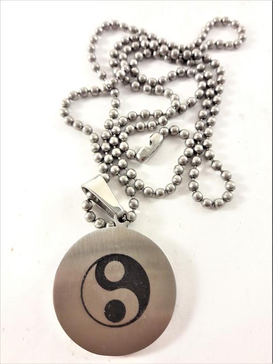 Halsband med Hänge Yin Yang Silverfärg