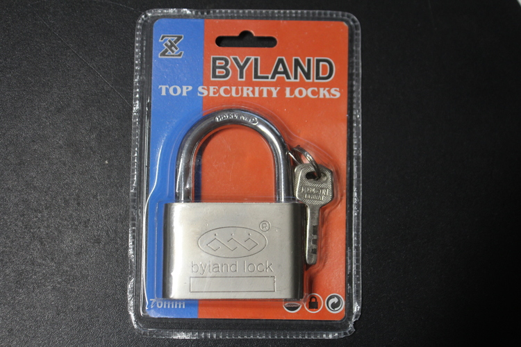 Hänglås med 3 nycklar, 70 mm