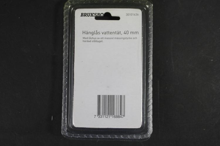Hänglås Bruksbo, vattentät, 40 mm