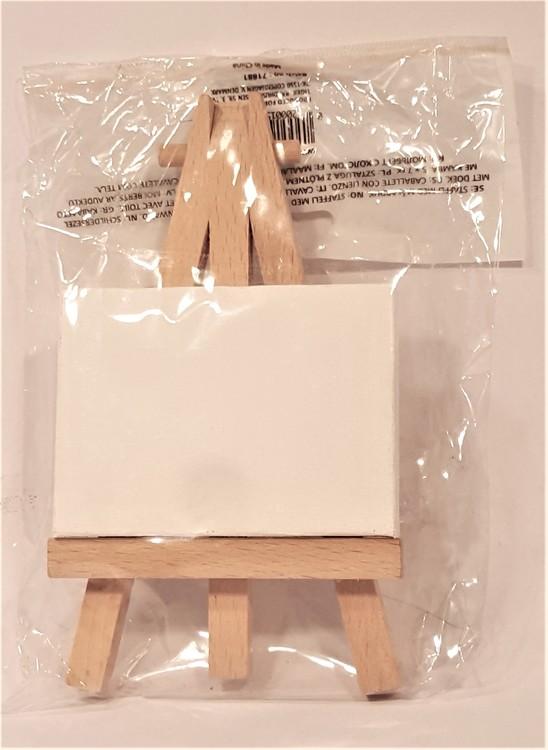 Staffli med minicanvasduk