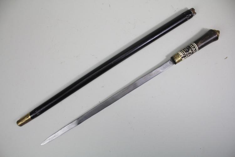 Handgjord svärdkäpp, replika, längd 58 cm