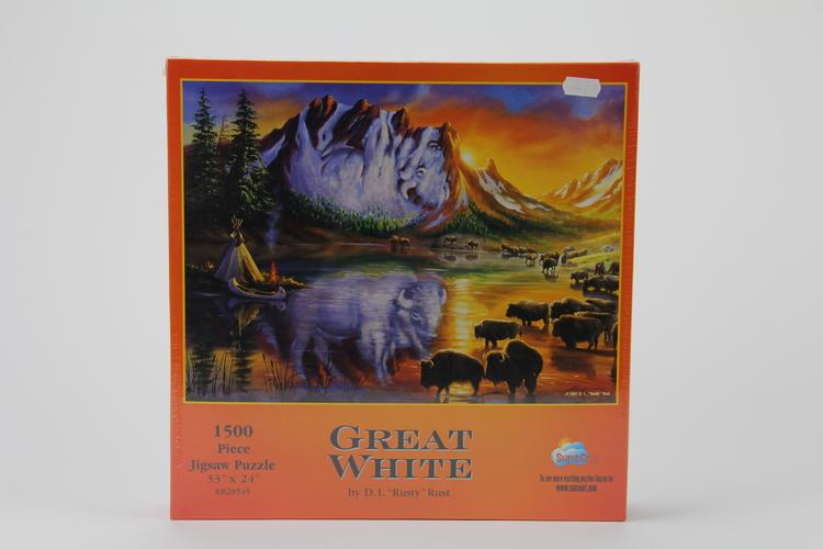 Pussel 1500 bitar Great white - D.L. Rusty Rust, 33x24 tum / 83x61 cm