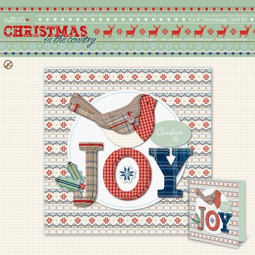 Scrapbooking Papermania 6 x 6 Decoupage Card Kit - Christmas in the Country Joy