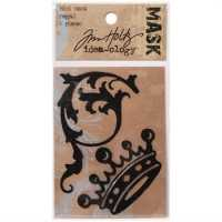 Tim Holtz Idea-Ology Mini Masks - 2pk/Regal