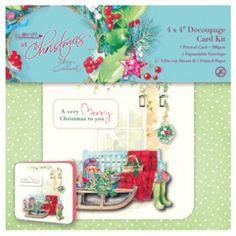 Papermania 4x4 Decoupage Card Kit
