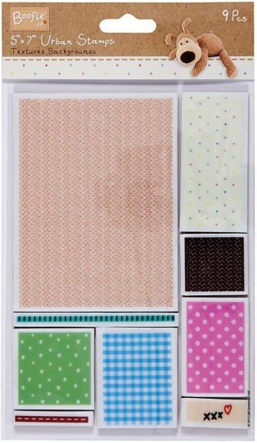 "Docrafts Boofle Urban Stamp Textured Backgrounds 5x7"" Set Of 9 Stamps"